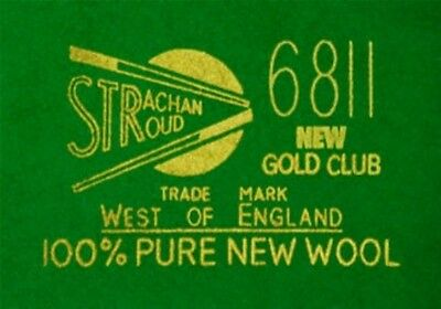 SNOOKER TABLE CLOTH STRACHAN 6811 WEST OF ENGLAND FOR 12FOOT X 6FOOT TABLE grt