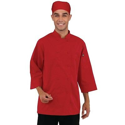 Red Chefs Jacket 3/4 Sleeve