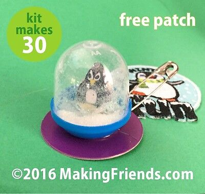 """Girl Scout Swaps Craft Kit: """"Penguin Snow Globe"""" with Free patch"""