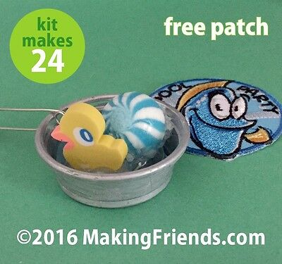 """Girl Scout Swaps Craft Kit """"Pool Party"""" with Free Patch!"""