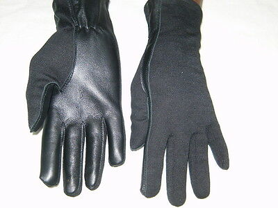 PILOT GLOVES Leather NOMEX AIRFORCE Fire Resistant BLACK  XS,S,M,L,XL,XXL