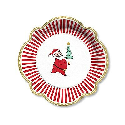 C.R. Gibson Paper Lunch Plates, Silly Santa, Set of 2 (TW9-17604)