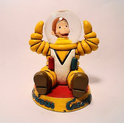 Collectible CURIOUS GEORGE Astronaut Snow Globe figurine Monkey in a Space Suit!