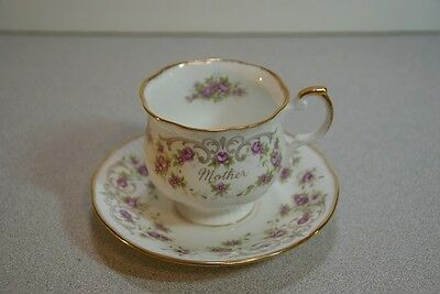 Queen's Fine Bone China Mother Cup & Saucer - Rosina China Co, England