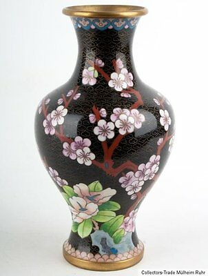 China 20. Jh A Chinese Export Cloisonne Enamel Vase Vaso Cinese Jarrón Chino 景泰蓝