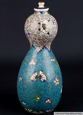 Japan 19. Jh. A Japanese Cloisonne Enamel On Earthenware Totai Vase Giapponese