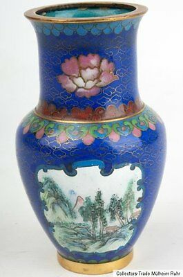 China 20. Jh. - A Small Chinese Cloisonne Enamel Vase - Vaso Cinese Chinois