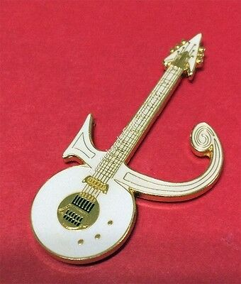 Prince Love Symbol - White Guitar Tribute Pin