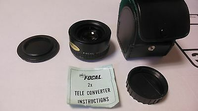 Focal MC 2X Tele Converter Lense 20-06-74 with Carry Case-Excellent Condition!!