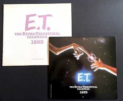 Vintage 1983 E.T. The Extra-Terrestrial Wall Calendar with Original Envelope