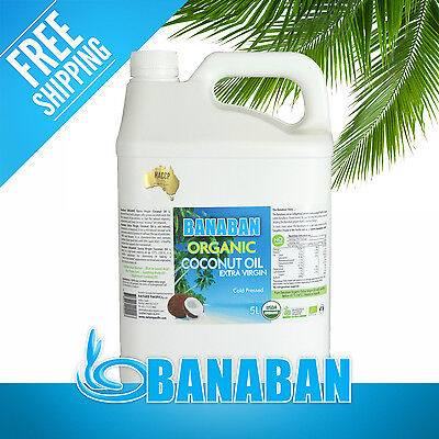 BANABAN Organic Extra Virgin Coconut Oill 5L - FREE SHIPPING!