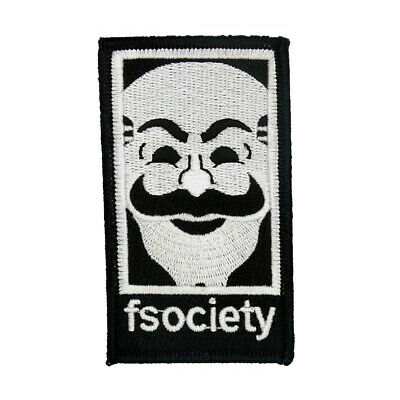 Fsociety Mr Robot Tv Show High Quality Patch Iron/sew On ~Free Ship- Us Seller