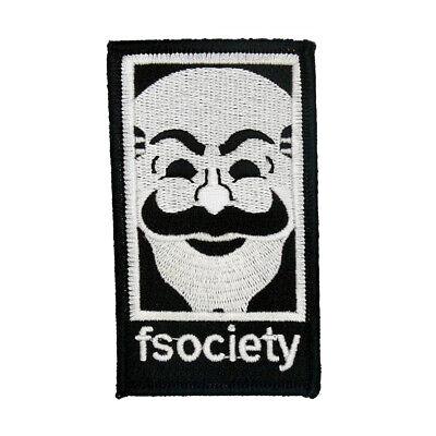 Mr Robot | Fsociety Patch Iron On Halloween jacket | US Seller - FREE Shipping