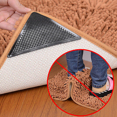4x REUSABLE RUGGIES RUG CARPET MAT GRIPPERS NON SLIP SKID WASHABLE GRIPS TOOL