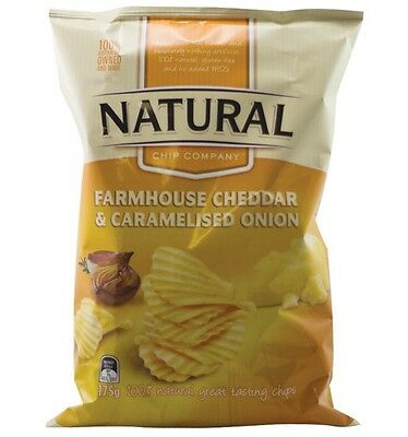 Natural Chips Cheddar & Onion 175g
