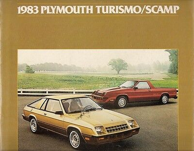 Plymouth Turismo & Scamp 1983 USA Market Sales Brochure