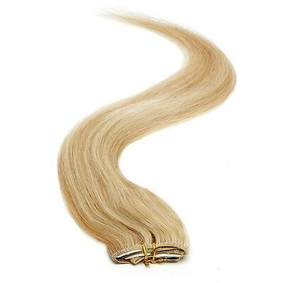 "American Pride Single Weft Clip in Hair Extensions 18"" GoldenBlonde Blend 24/27"