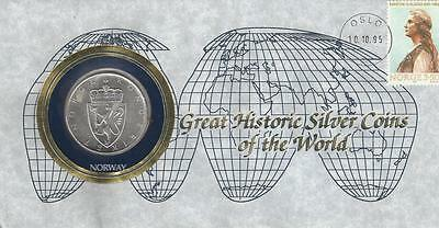 Great Historic Silver Coin, Norway 10 Kroner 1964
