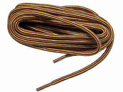 (2 pair pack) Heavy Duty Gold Brown w/yellowKevlar boot laces shoelaces NEW