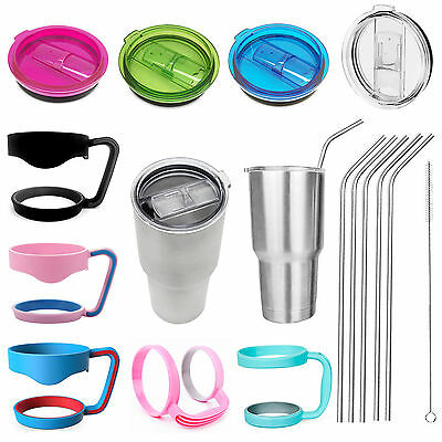 Replacement Cup Lid Handle Holder Straws For 20/30 oz Yeti Rambler Rtic Tumbler