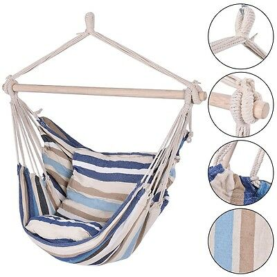 Choose Outdoor Deluxe Hammock Rope Chair Porch Yard Tree Hanging Air Swing