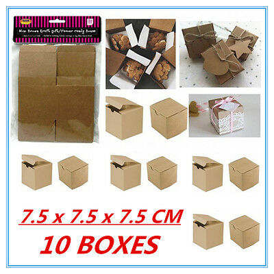 10 Pack Mini Small Brown Kraft Paper Gift/favor Boxes - Candy Lolly Party Favor