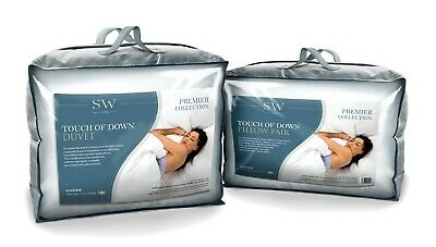 Touch Of Down Microfibre Single Bed Hollowfibre Filled Duvet Quilt + 2 Pillows