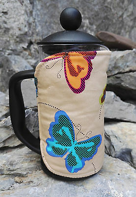 Butterflies Cafetiere Cosy Option of Small Medium or Large Size Butterfly cosies