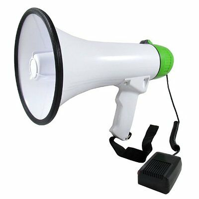 Professional Megaphone Bullhorn with Built-in Siren, Music and Volume Control