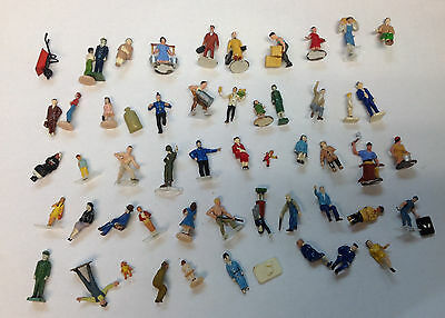 50 pcs Miniature Figures train Diorama Painted Architectural Human TT Scale