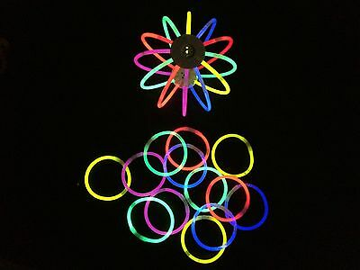 """2000 8"""" Glow stick bracelet assorted color free glowball connectors-Special"""