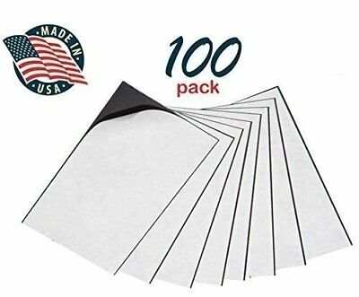 Self Adhesive Peel & Stick Promotional Business Card Magnets Pack of 100 2 x 3½""