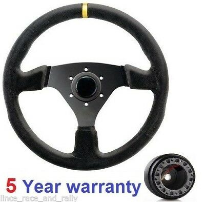Sports Suede Steering Wheel And Boss Kit Fit Land Rover Defender 36 Spline New