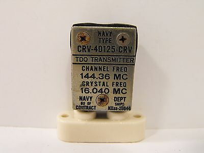 (1) US Navy 14436 KHz / 144.36 MHz FT-243 Crystal for 2 Meters Ham Radio