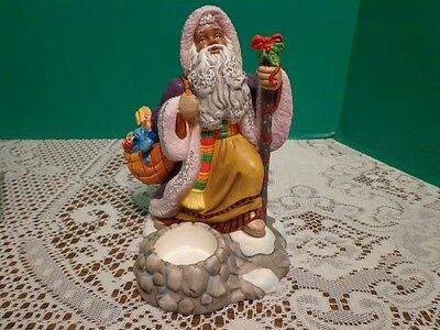 Partylite Exclusive Holiday Figurine Man Gifts Candles Tealight Holder 9""