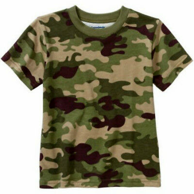 Baby Toddler Boys Short Sleeve Camo T-Shirt 100% Cotton Sizes 12 18 24 Month NEW