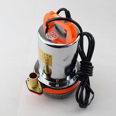 12V Farm Ranch Solar Powered Submersible DC Well Pump 23FT Lift Serviceable