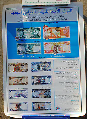 Wartime Iraqi Currency Poster