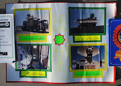 Wartime Captured Iraqi Poster of US Military Equipment