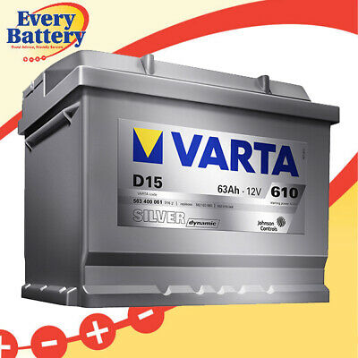 D15 : Varta (DIN53LH) Silver Top Battery - 3Yr Warranty 563 400 061