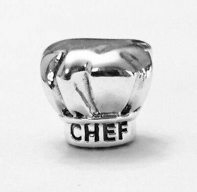"""Authentic Pandora Chef Hat """"I Love Cooking"""" Charm #791500 Pandora TAG Included"""