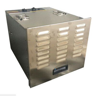 Commercial Stainless Steel Food Fruit Jerky Dryer Blower Dehydrator 10 Tray