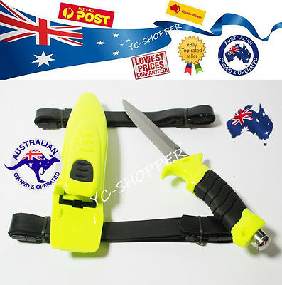 5Scuba Diving Hunting Camping Fishing Stainless Steel Dive Knife