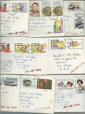 16 Antigua & Barbuda Official Covers Flowers Birds History Ships Sports Inserts