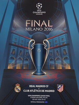 Programmheft Champions League Finale Mailand 2016 [Real - Atletico] Programme