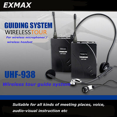 TAKSTAR UHF-938 Wireless Tour Guide System For Church meeting Teaching Training