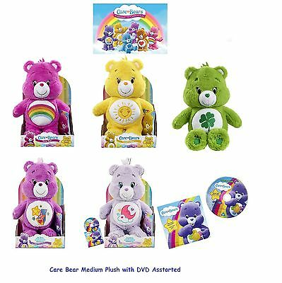 Care Bears SweetDreams,Surprise,GoodLuck,Cheer,Funshine With DVD Soft Plush Toys