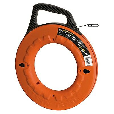 Klein Tools 56007 125' Depth Finder High Strength Stainless Steel Fish Tape