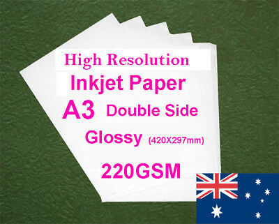 180 sheets A3 220GSM Inkjet Double Side Glossy Photo Paper