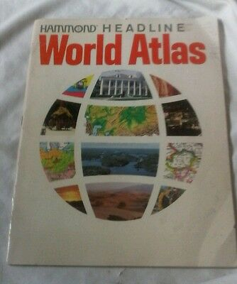 Vintage Hammond Headline World Atlas ( 1978 Paperback )